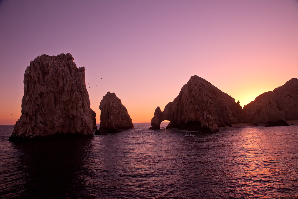 The Arch and Lands End at Sunset Cabo San Lucas Mexico