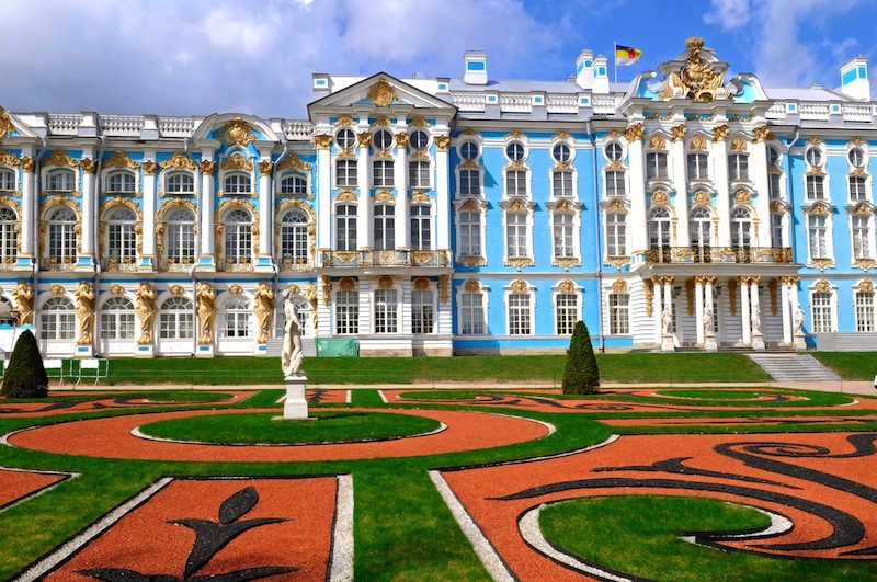 The Catherine Palace in Tsarskoye Selo Russia