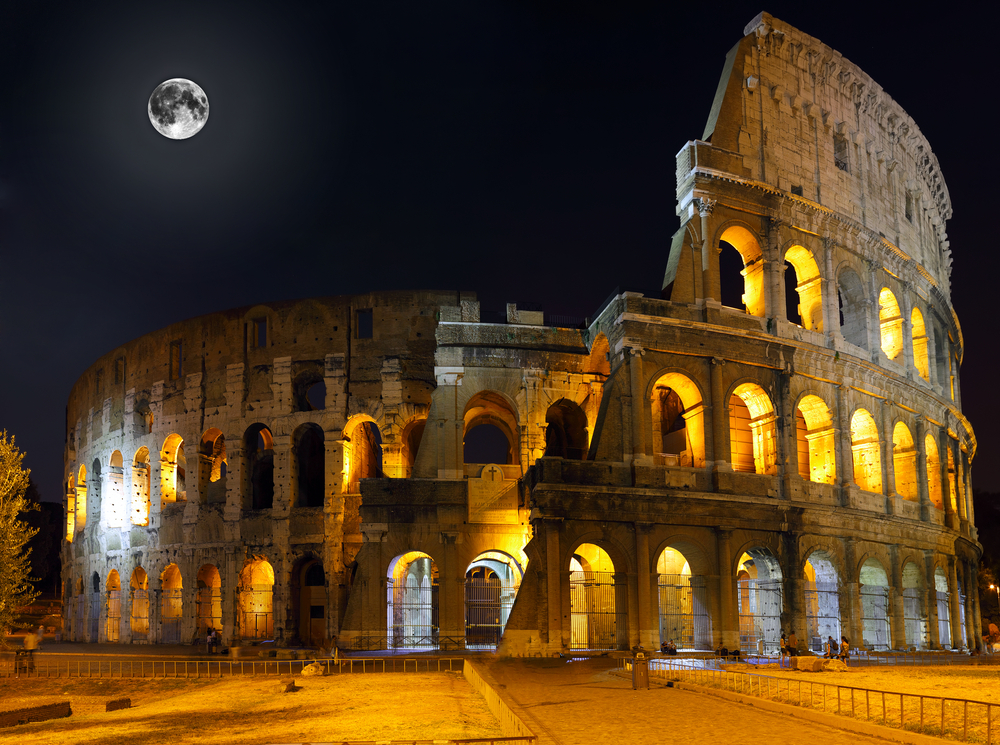 The Colosseum the world famous landmark in Rome
