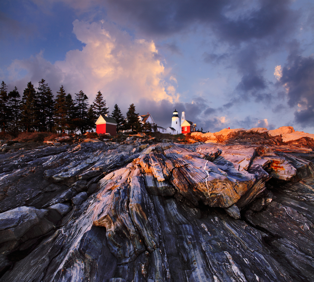 The Foot Of The Pemaquid Point Lighthouse Bristol Maine USA