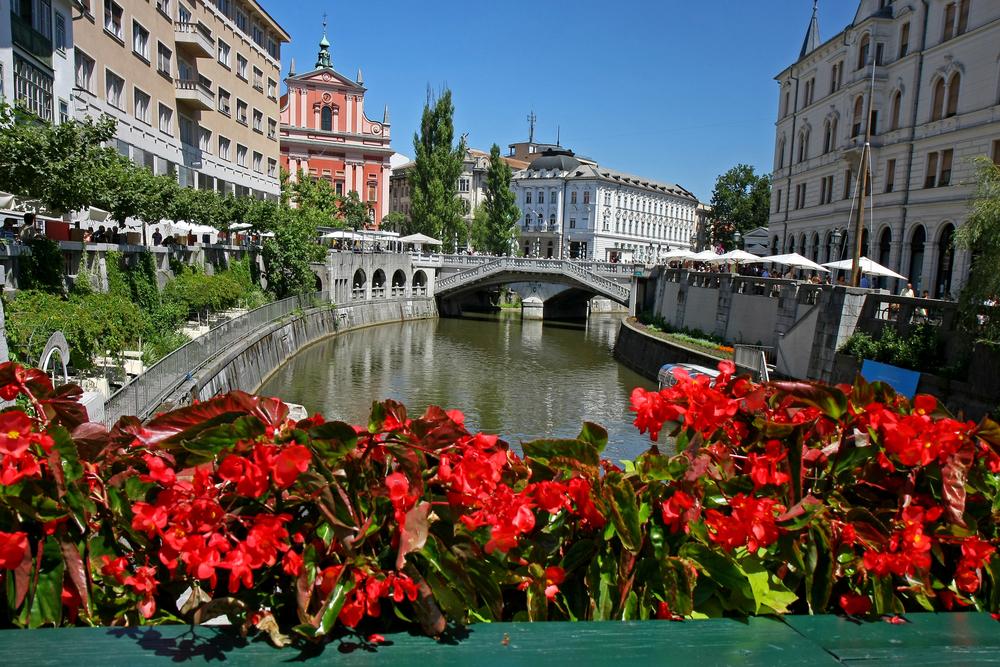 The Franciscan Church of the Annunciation Triple Bridge Ljubljana Slovenia