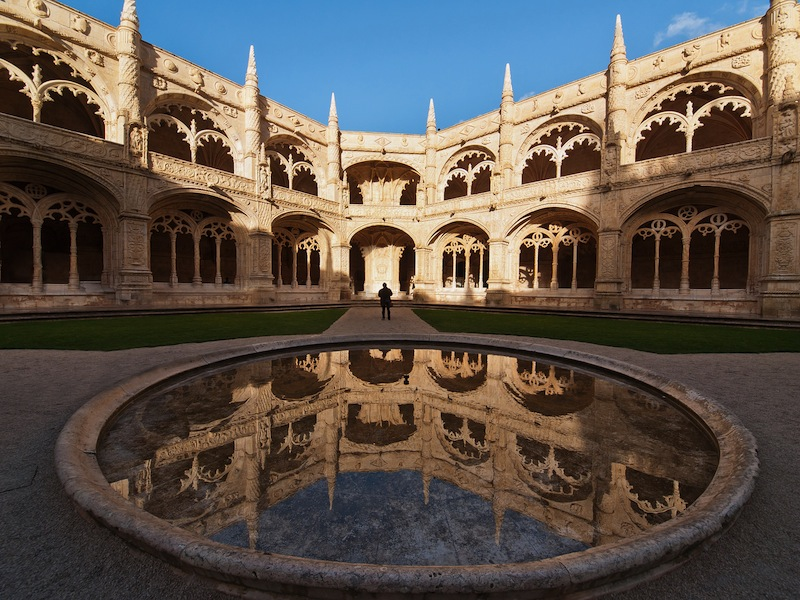 The Hieronymites Monastery Mosteiro dos Jeronimos located in the Belem district of Lisbon Portuga