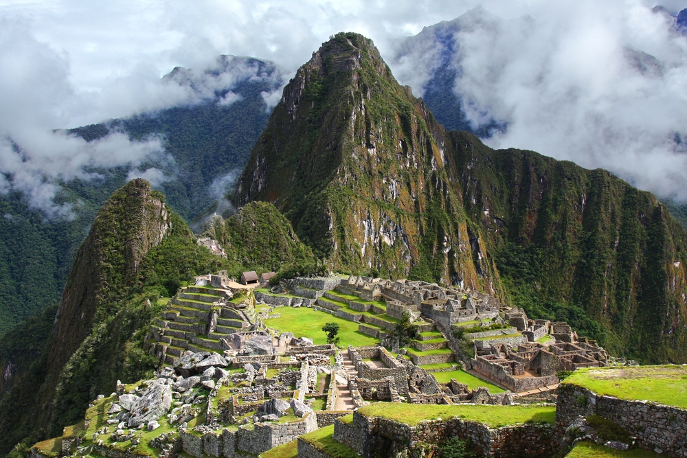 The Incan ruins of Machu Picchu in Peru