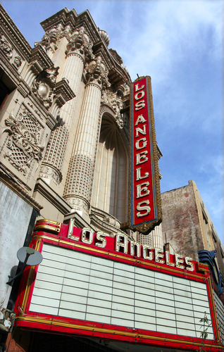 The Los Angeles Theater erected in 1931 was the latest most opulent of South Broadways collection of magnificent movie palaces