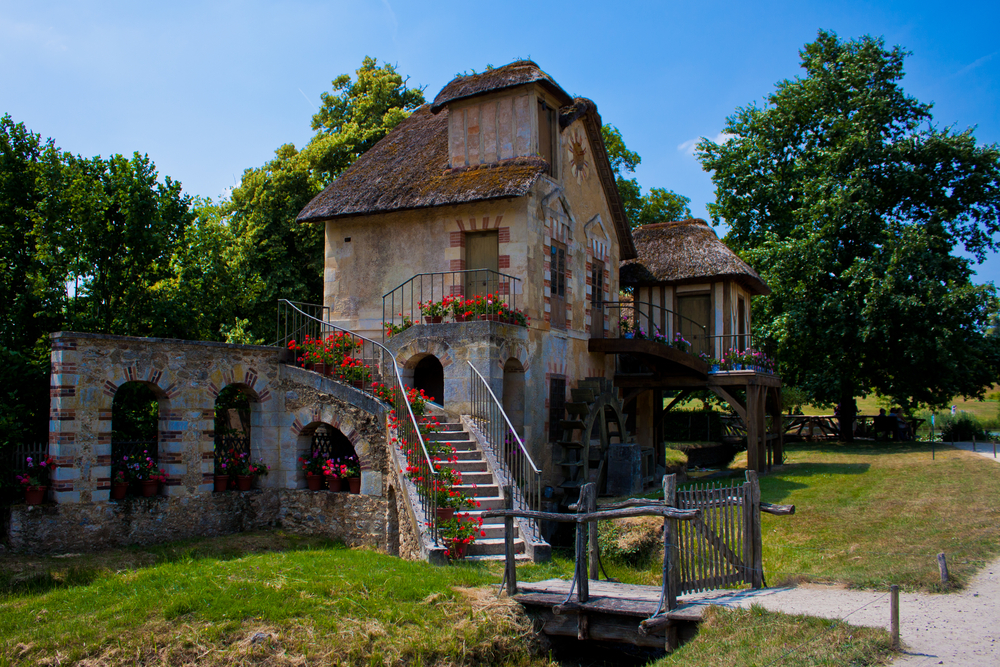 The Moulin watermill cottage built for Marie Antoinette