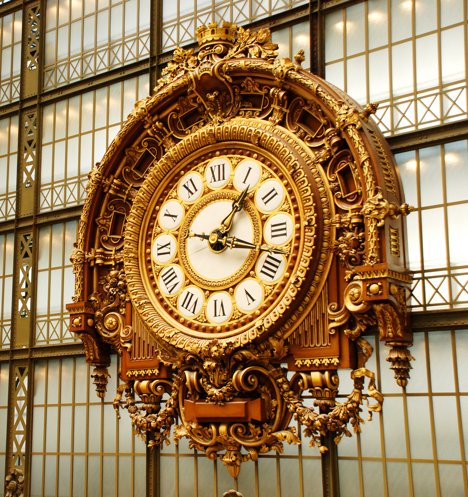 The Musee Dorsay clock in Paris France