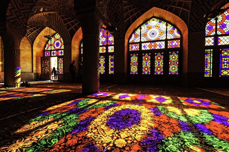 The Nasir al Mulk Mosque is a traditional mosque in Shiraz Iran