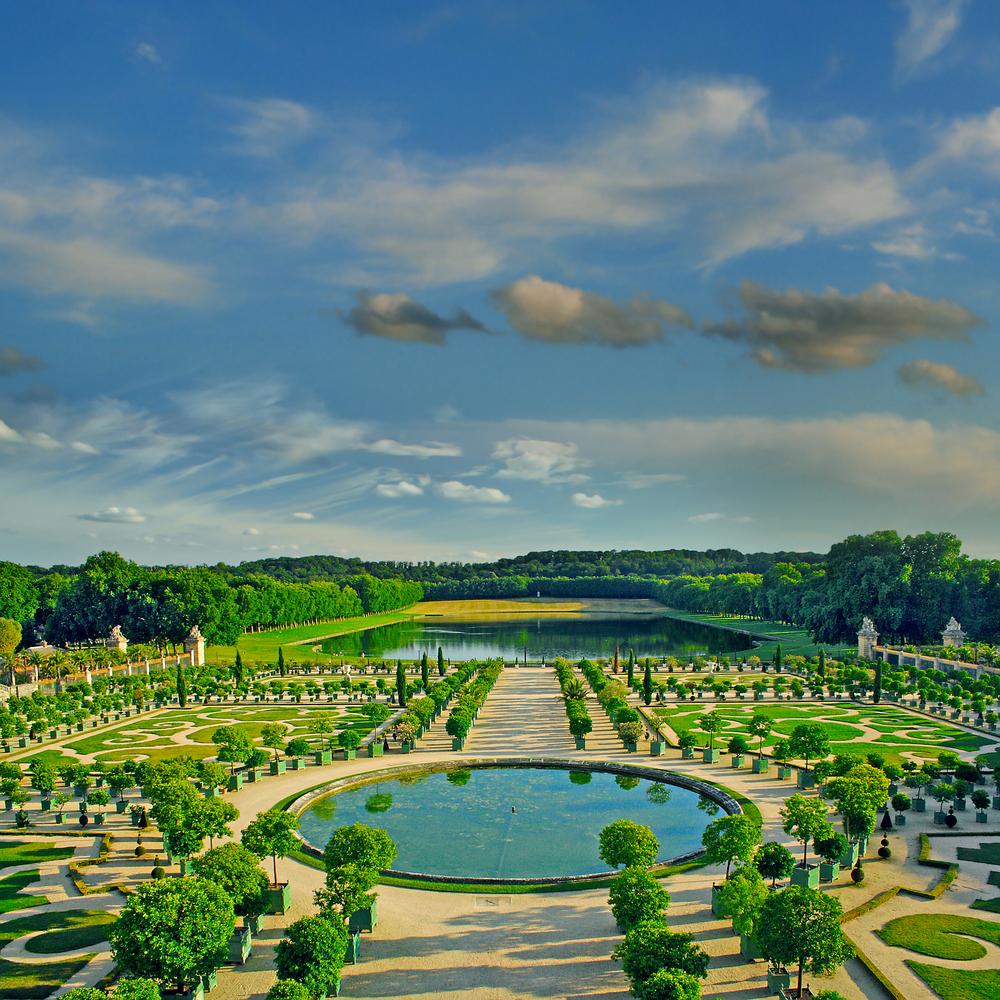 The Orangerie garden of Versailles Palace Paris France UNESCO World Heritage Site