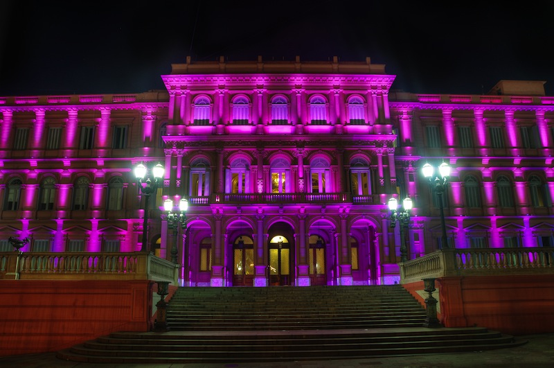 The Pink House the house of the government in Buenos Aires Argentina