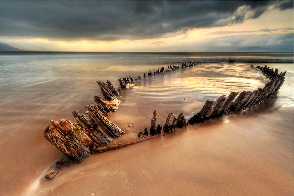 The Sunbeam ship wreck on the Rossbeigh beach Co
