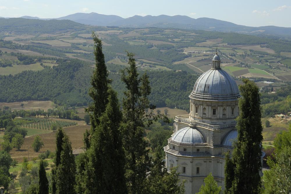 The Tempio di Santa Maria della Consolazione in Todi Umbria
