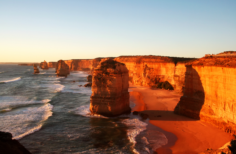 The Twelve Apostles Victoria Australia at sunset