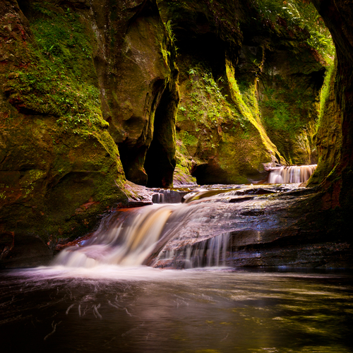The gorge at Finnich Glen also known as Devils Pulpit near Killearn Scotland