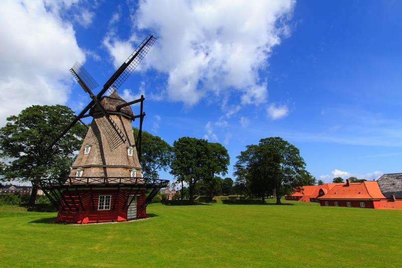 The mill in the kastellet in Copenhagen Denmark