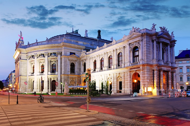 The state Theater Burgtheater of Vienna