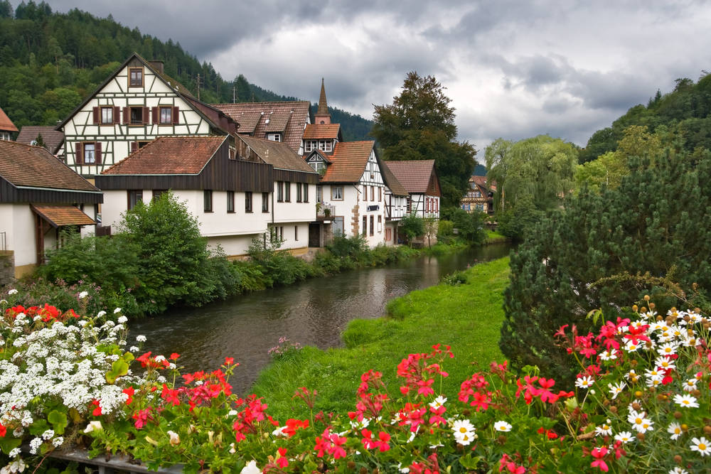 The village of Schiltach in the Black Forest Germany
