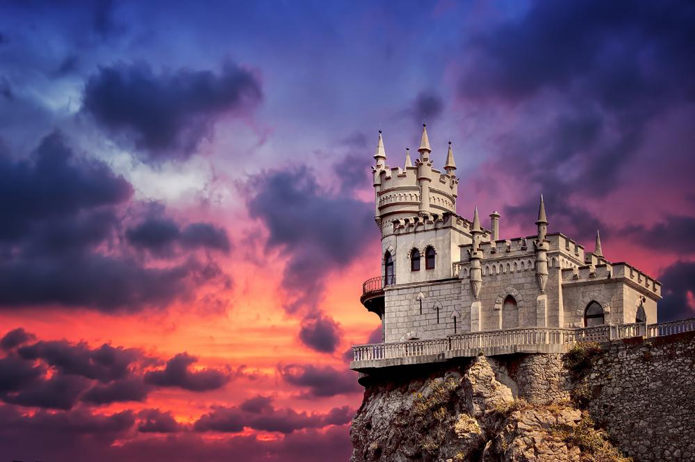 The well known castle Swallows Nest near Yalta ucrainia