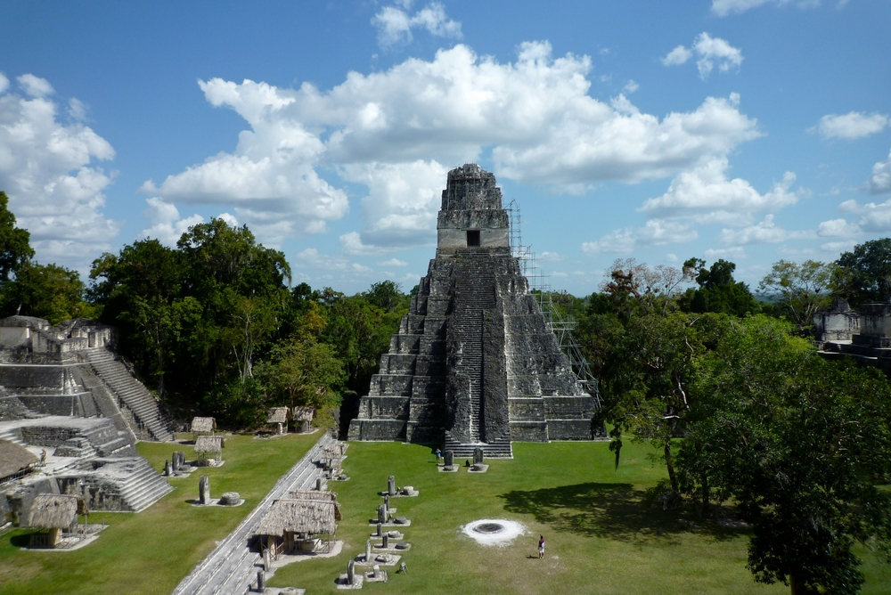 Tikal Guatemala one of the largest archaeological sites and urban centres of the pre Columbian Maya civilization