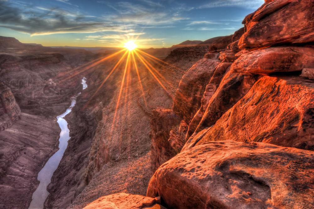 Toroweap Sunset Grand Canyon National Park Arizona