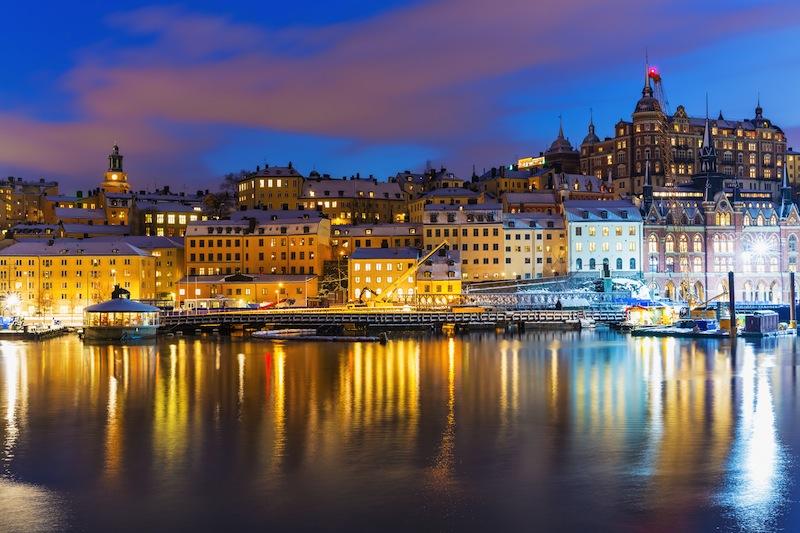 Town Gamla Stan in Stockholm Sweden