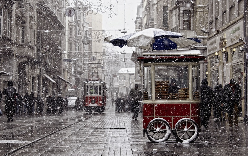Traditional fast food of Istanbul on Beyoglu