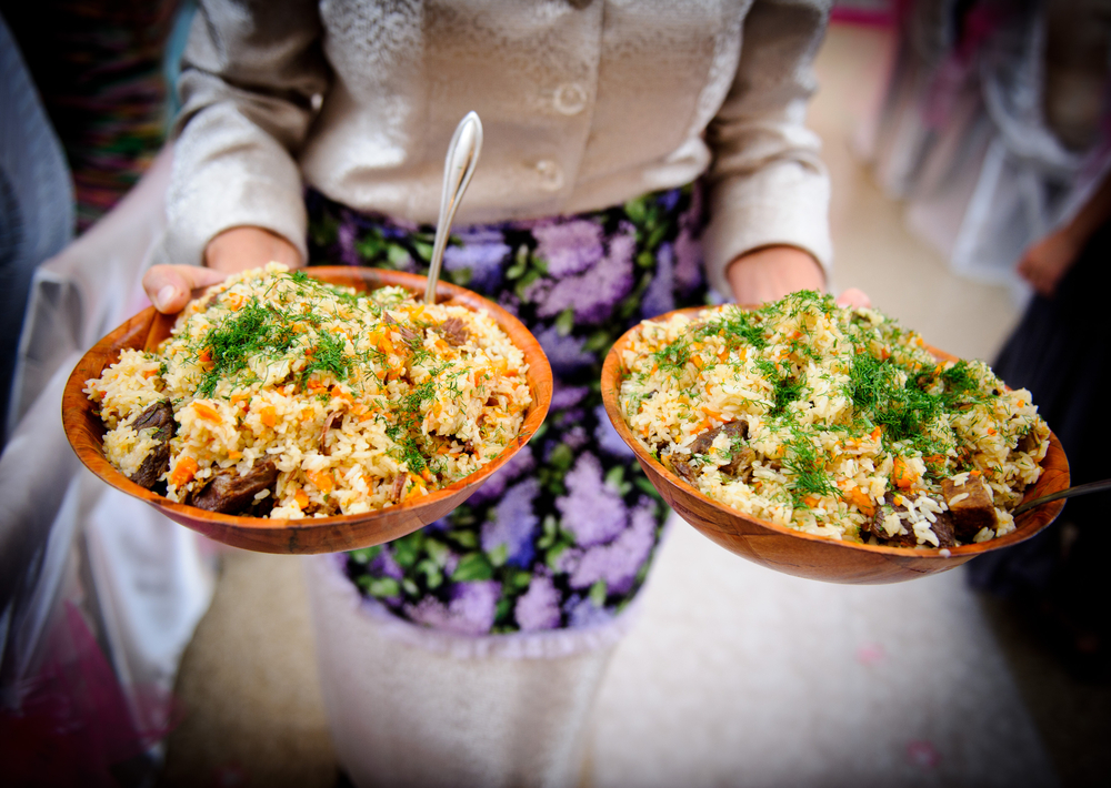 Traditional rice pilaf Plov