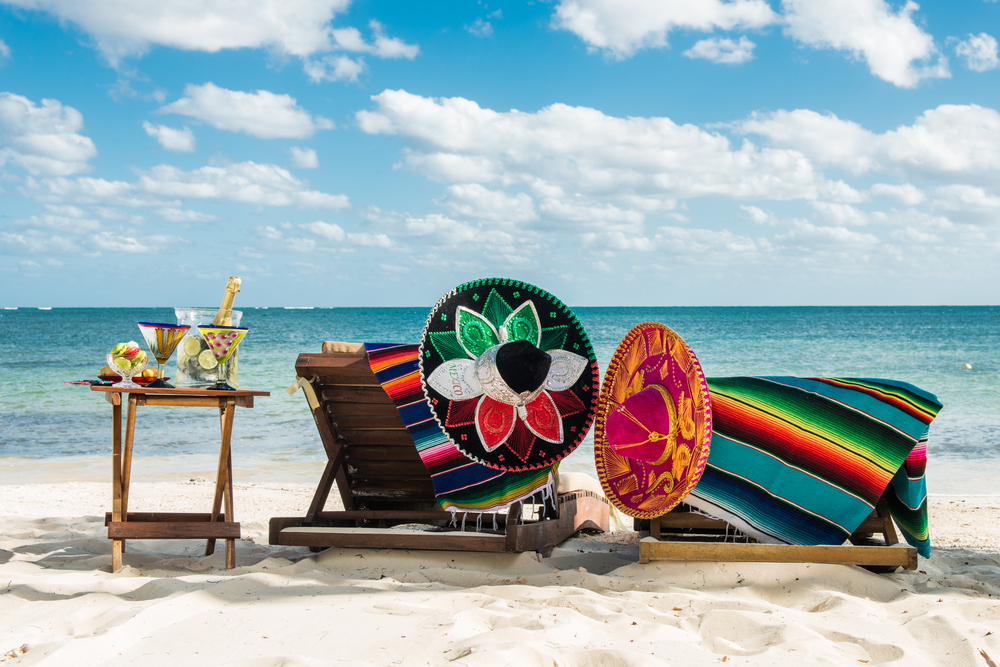 Travel background for Mexico