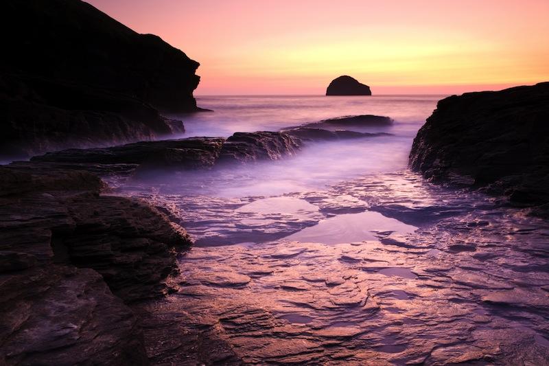 Trebarwith Strand on the North Cornwall Coast
