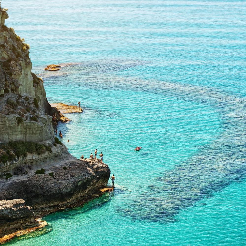Tropea beautiful city and sea of Calabria