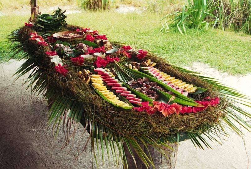 Tropical Lunch Table Bora Bora French Polynesia jpg