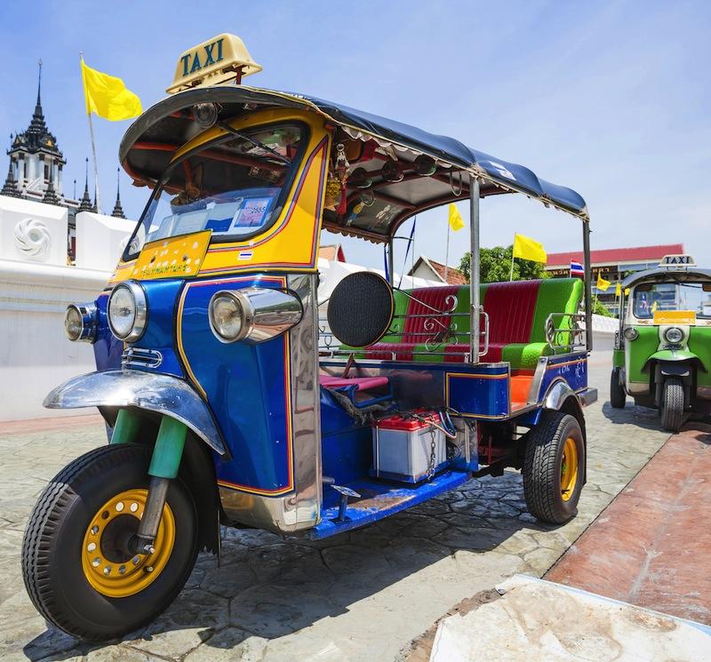 Tuk Tuk vehicle urban in Bangkok