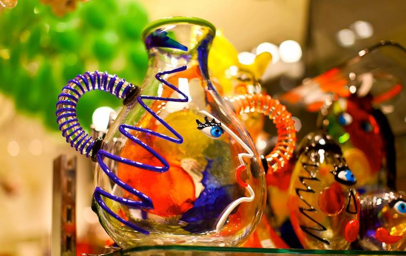 Typical Murano glass