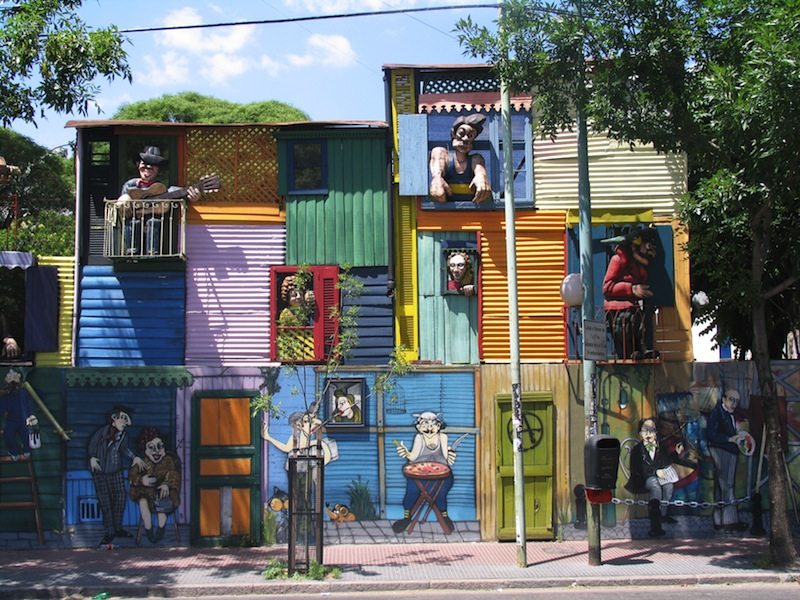 Typical houses in La Boca Buenos Aires