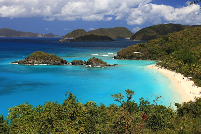 US Virgin Islands in the Caribbean