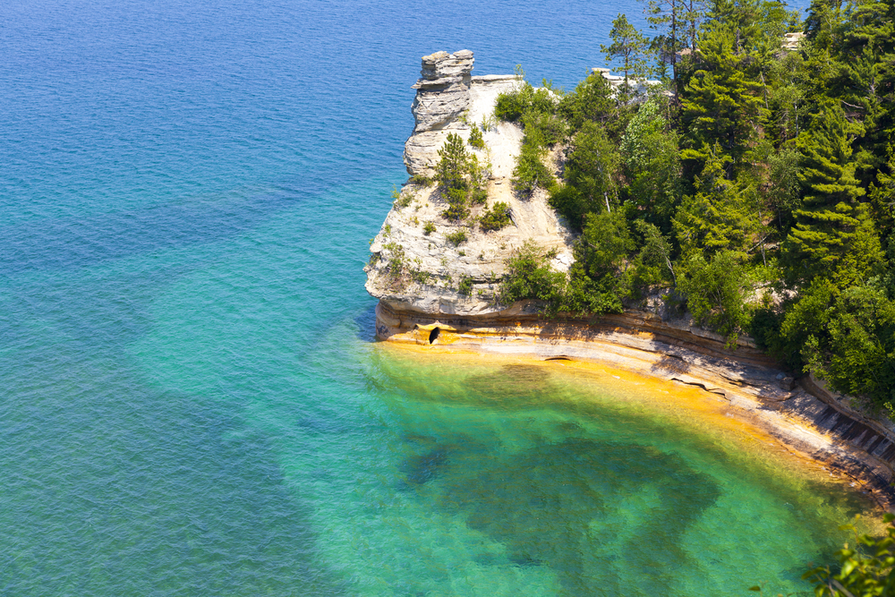 Upper Peninsula Pictured Rocks Michigan USA