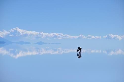 Uyuni Lake Bolivia il lagio cielo