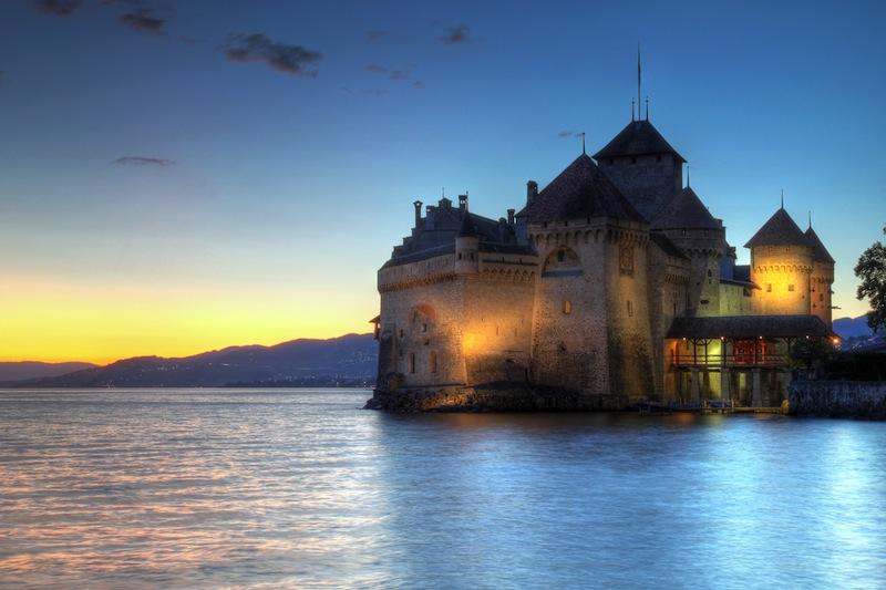VEYTAUX SWITZERLAND JULY 27 Chateau de Chillon