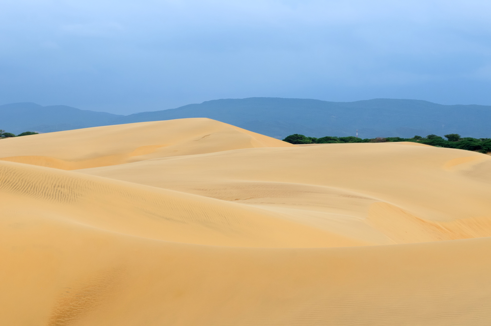 Venezuela magnificent sand dunes can be over 30 meters tall of the Medanos De Coro National Park near the city of Coro