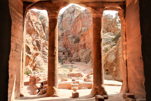 View from The Garden Hall dated from 200BC 200AD Petra Jordan