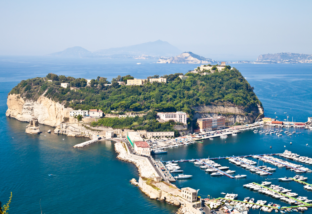 View of Naples Gulf from Pozzuoli