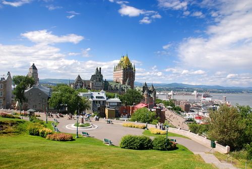 View of old Quebec and the Château Frontenac Quebec Canada