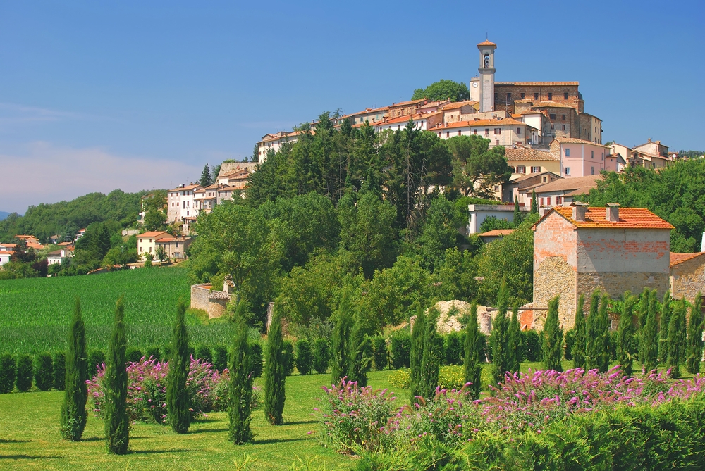 Village in Umbria near AssisiItaly