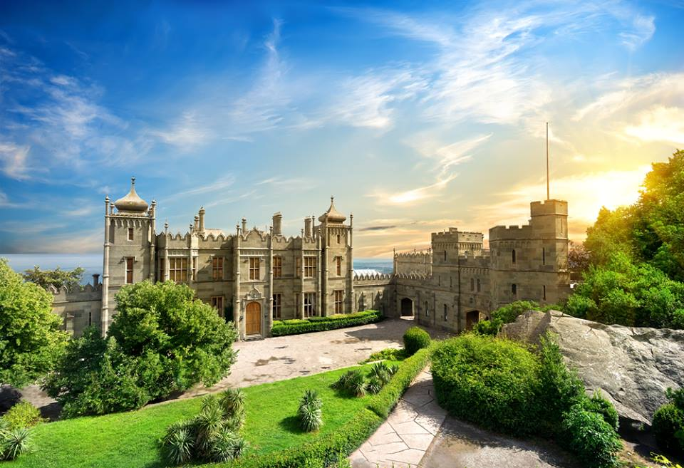 Vorontsov Palace in the town of Alupka Crimea Ukraine