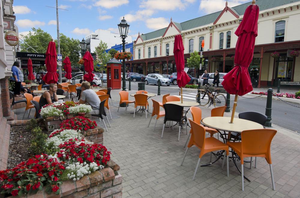 WANGANUI FEB 22 Cafe restaurant on Victoria Avenue on February 22 2013 in Wanganui New Zealand
