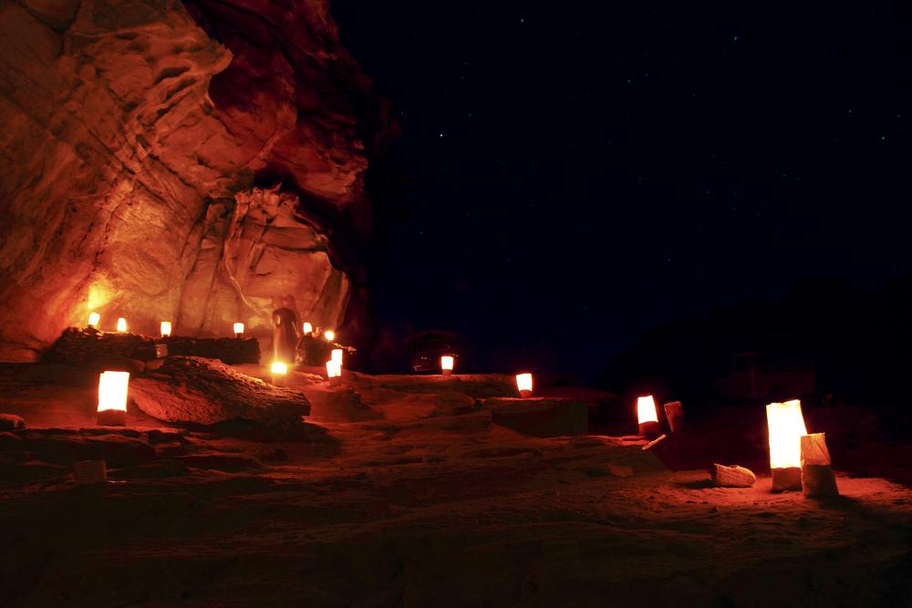 Wadi Rum desert0 by night Jordan