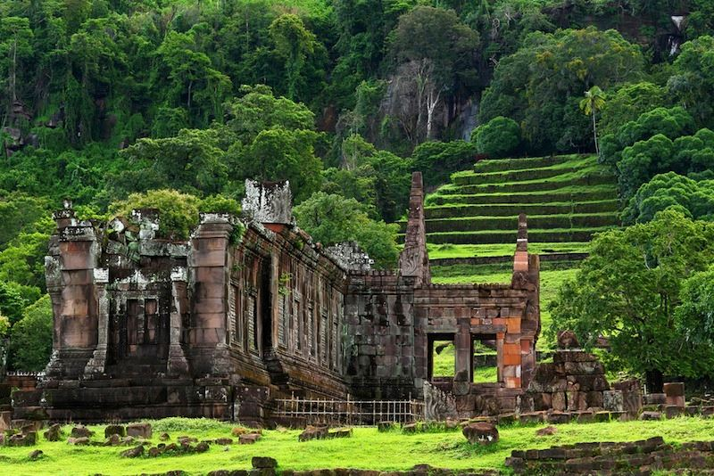 Wat Phu is the UNESCO world heritage site in Southern Laos