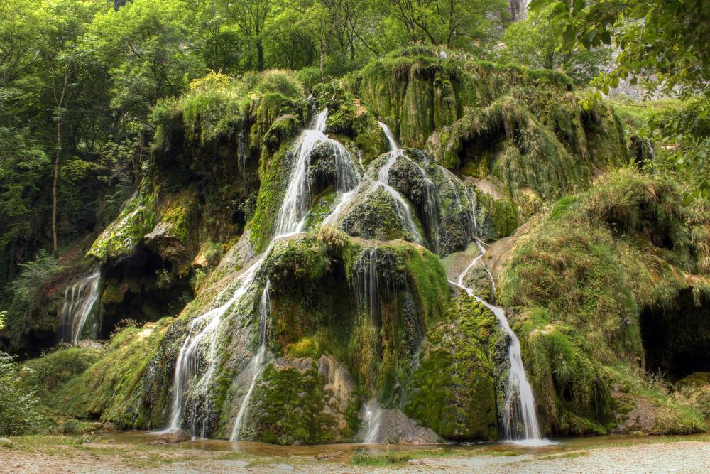 Waterfall at Baume les Messieurs Jura France