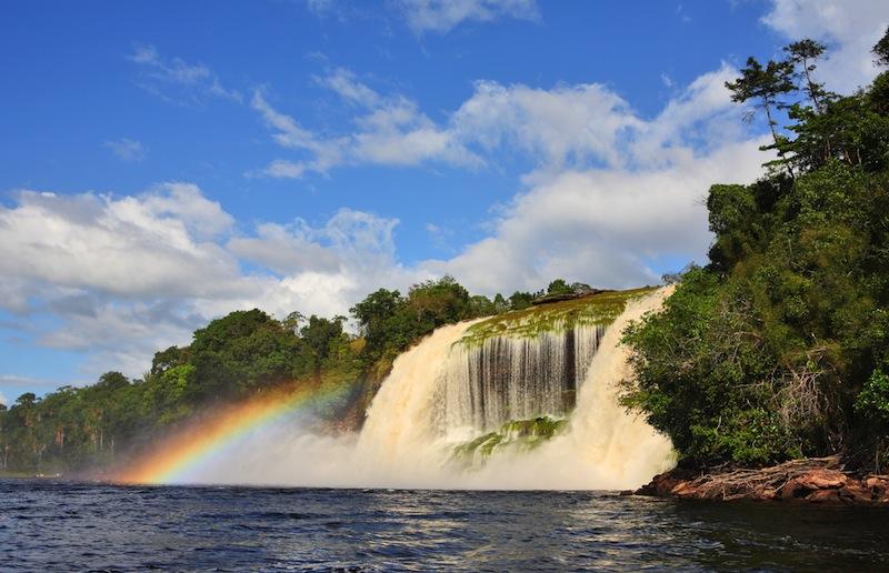 Waterfall at Canaima National Park Venezuela
