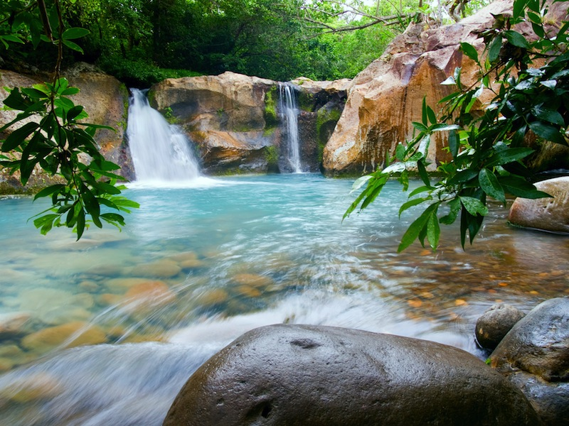 Waterfall at the Rincon de la Vieja National Park Costa Rica