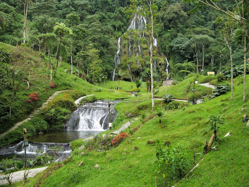 Waterfalls Santa Rosa de Cabal Colombia